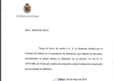 Informe del Consejo de Estado sobre expediente de reversión de la concesión de caudal del rio Cinqueta