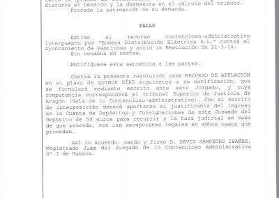 Sentencia contra el Ayuntamiento de Panticosa
