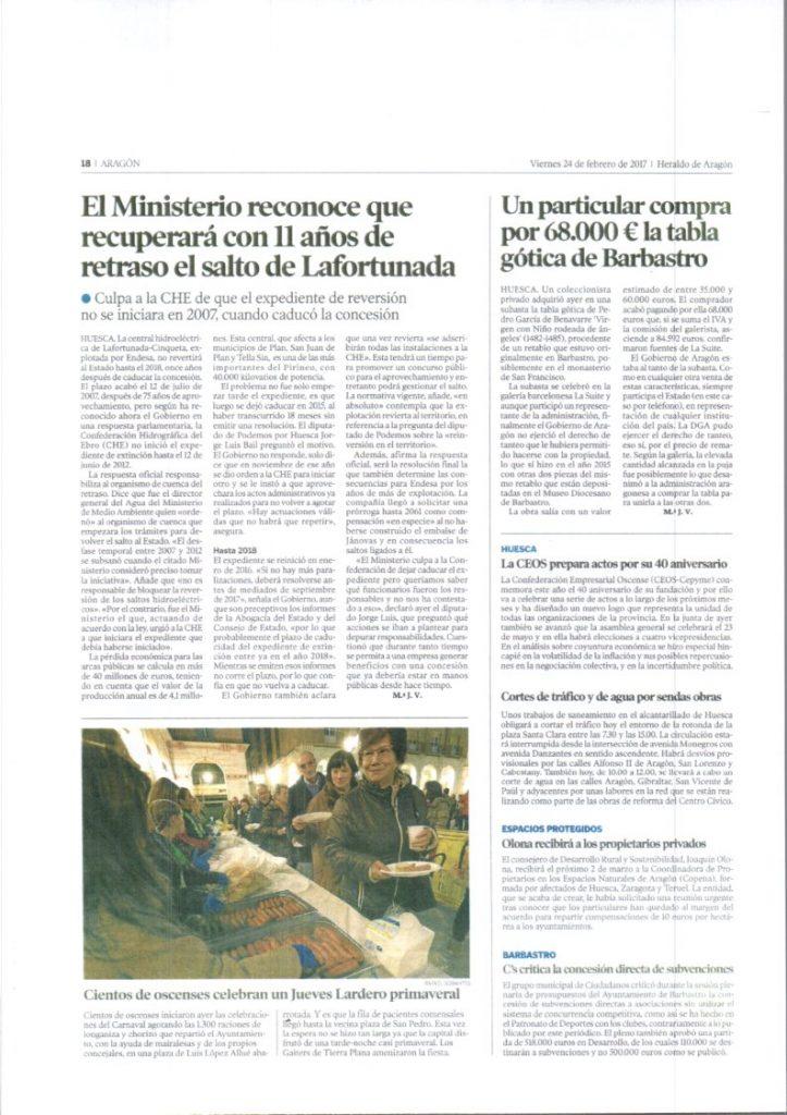 Prensa: Respuesta del Ministerio a Jorge Luis Bail. El Ministerio del tiempo