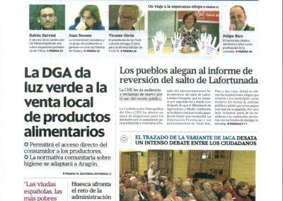 Los pueblos alegan al informe de reversión del salto de Lafortunada