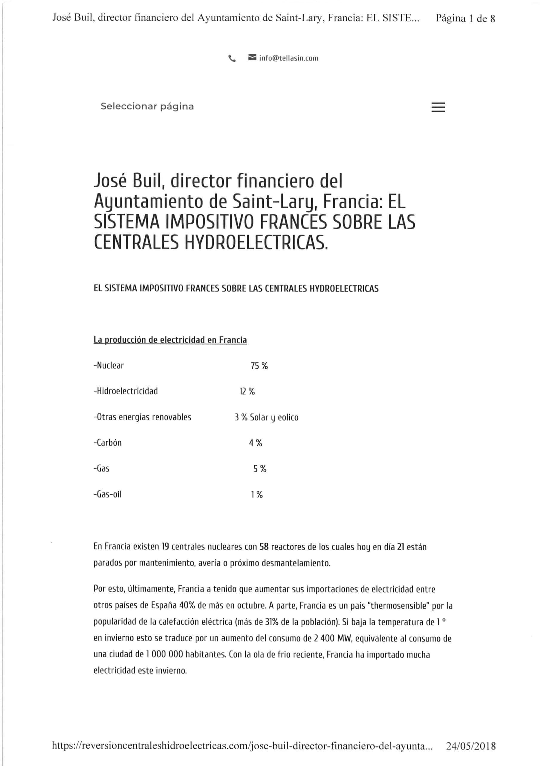 FRANCIA, sistema impositivo de centrales